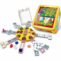 Puremco Mexican Train and Chickenfoot Dominoes - The Complete Dual Game Set in a Tin Board Games For Couples, Fun Board Games, Fun Games, Board Game Store, Board Game Online, Games For Toddlers, Games For Teens, Mexican Train Dominoes, Preschool Board Games