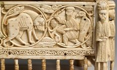Detail of front, Morgan Casket, Southern Italy, 11th-12th century.