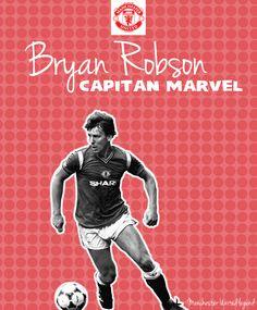 Bryan Robson Illustration - Manchester United legend