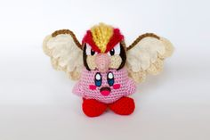 Crochet Pidgeot Kirby Amigurumi **Made to order** by PersnicketyPrecision on Etsy