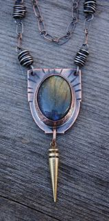 I received a message from the Manager of one of the shops  that carries my jewelry.   The labradorite necklace that I had delivered last mo...