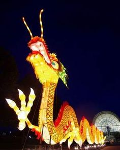 """Lantern Festival: Art by Day, Magic by Night"" at the Missouri Botanical Garden in St. Louis. May 26-August 19, 2012."