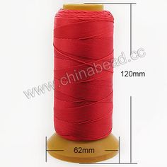 Cord Thread & Wire, 9 Folded Beading Thread, Color #04, 300 meters per spool, Sold by spools