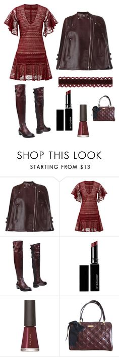 """""""Leather Poncho!"""" by im-karla-with-a-k ❤ liked on Polyvore featuring Givenchy, Marissa Webb, Phisique De Femme, Witchery, SUQQU and Kate Spade"""