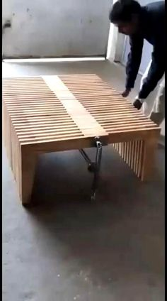 Folding Furniture, Space Saving Furniture, Home Decor Furniture, Wood Furniture, Furniture Design, Diy Furniture Plans Wood Projects, Outdoor Furniture, Outdoor Decor, Chair Design Wooden