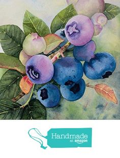 Blueberry Picture - watercolor fruit painting - berry painting - kitchen art - Watercolor Print - Original Art from Schafer Art Studio https://www.amazon.com/dp/B016AGULV0/ref=hnd_sw_r_pi_dp_xjLfwb98WH0CJ #handmadeatamazon