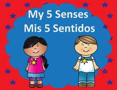 Mis Cinco Sentidos and My Five Senses Science Center Printables from Bilingual Teacher World on TeachersNotebook.com - (35 pages) - This product is in both English and Spanish. Plenty of hands on activities to cover the entire science unit of my five senses.