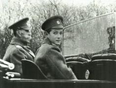 Tsarevich Alexei Romanov ridding in a motor vehicle in 1915-16.