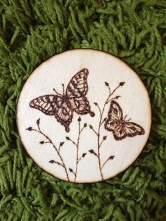 My pyrography creation. Beautiful butterflies. Meadowbrook Arts, Crafts & Photography