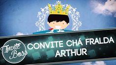 Convite Animado Chá Fralda Sombra (Príncipe) - Arthur