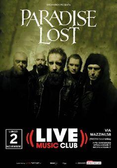 News di Spaghetti italiani - PARADISE LOST: il 2 novembre al Live Club di Trezzo sull'Adda (MI)
