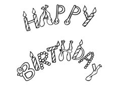 free printable happy birthday coloring page