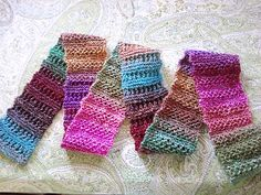 """Scarfy Come Home by SpillyJane. """"A long, lean, lacy scarf that's quick and easy to knit, and a great """"one skein"""" project."""""""