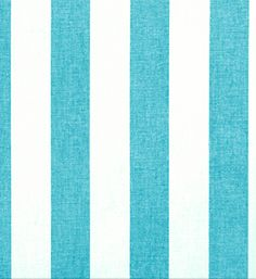 Turquoise & natural, wide stripe, cotton canvas