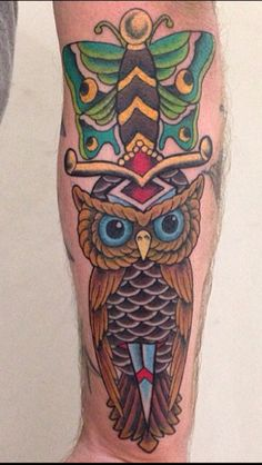 Traditional Dagger/Owl/Butterfly