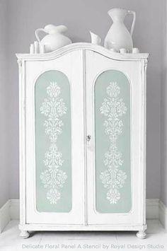 Fab DIY Furniture Stenciling Ideas With Royal Design Studio Stencils