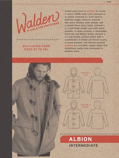 Sewing Pattern Walden by Colette Patterns Albion