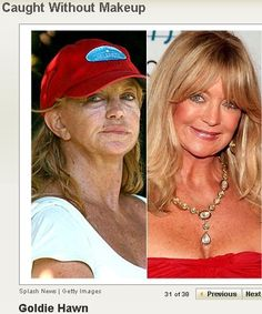 Goldie Hawn with and without makeup