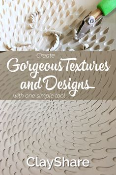 Learn how using one simple tool can create a variety of textures, designs and patterns in your pottery. Follow ClayShare for more great pottery ideas, projects,tutorials, tips and techniques.