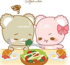 Cute Bear Drawings, Kawaii Drawings, Cubs Wallpaper, Sugar Bears, Cute Love Cartoons, Bear Cartoon, Love Bear, Love Stickers, Cute Chibi