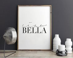 PRINTABLE ArtCIAO BELLAModern Wall DecorGirls Room by TypoHouse
