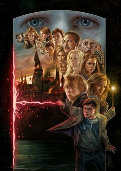 Harry Potter and the Deathly Hallows, Kelvin Nguyen Posters Harry Potter, Harry Potter Goblet, Harry Potter Artwork, Harry Potter Tumblr, Harry Potter Wallpaper, Harry Potter Pictures, Harry Potter Aesthetic, Harry Potter Characters, Deathly Hallows Part 2