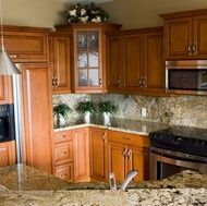 hardwood cabinets kitchen traditional wood cherry kitchen cabinets from 1573