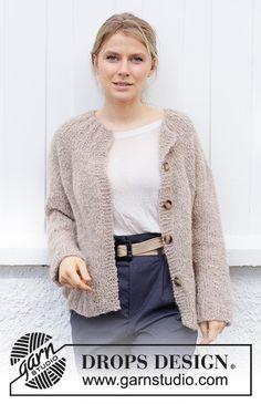 Sweater Knitting Patterns, Cardigan Pattern, Jacket Pattern, Free Knitting, Crochet Patterns, Drops Design, Drops Kid Silk, Casual, Mohair Sweater