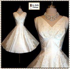 1950 wedding dress, tea length