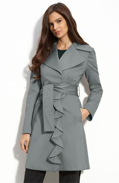 Take the edge off a suit with a feminine trench coat in a soft color for spring.  $138