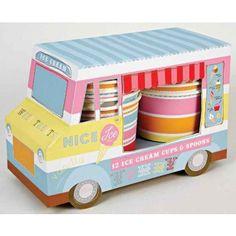 Ice Cream Van Ice Cream Cups   12ct for $10.77 in Tableware