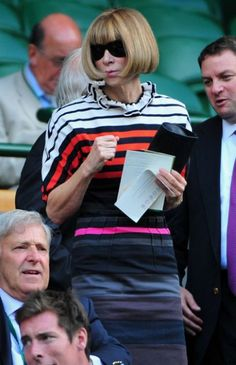 Like US Vogue Editor Anna Wintour we plan to bring some glamour to the Centre Court this summer!
