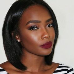 Very nice #makeup and #pretty #bob style! Now you can get this with our wholesale price & free shipping!