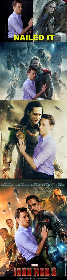 When Tom Hiddleston is asked to pose like Natalie Portman, he does not disappoint. And of course the fandom goes crazy with it :)
