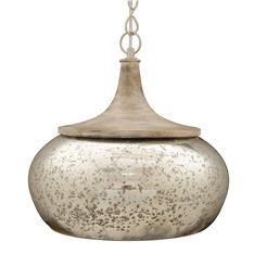 At home ceiling pendant mercury glass