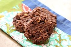 Flourless Double Chocolate Peanut Butter Cookies~ Click here to Subscribe to Barefeet In The Kitchen by Email and receive new recipes in your inbox every day. ~ONE YEAR AGO TODAY: Crock-Pot White Bean and Ham SoupTWO YEARS AGO TODAY: Homemade Peach Jam