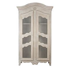 French Cream Display Cabinet