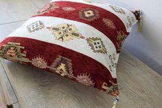 Kilim Pillow Bohemian cushion cover 18 ethnic pillow by sefilkilim