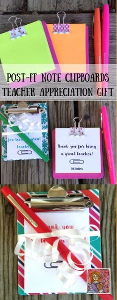 Teacher Appreciation Week starts May 1 this year! Simple teacher appreciation gift for a co-worker or any teacher friend
