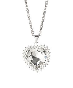 Look what I found on #zulily! Silvertone Halo Heart Pendant Necklace #zulilyfinds