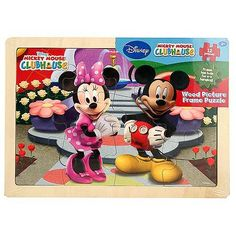 Mickey Mouse Clubhouse - Wood Picture Frame Puzzle [12 Pieces]$9.99