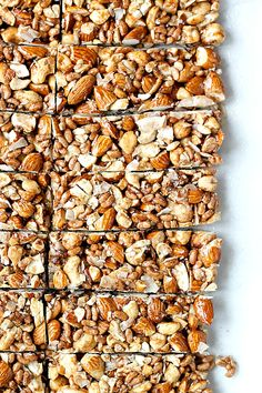 Recipes Snacks Bars Homemade KIND Bars rival the version of the oh so good, but hard to come by… Low Carb Protein Bars, Healthy Protein Snacks, Protein Bar Recipes, Healthy Bars, Low Calorie Snacks, Healthy Shakes, Healthy Sweets, Snack Recipes, Healthy Breakfasts