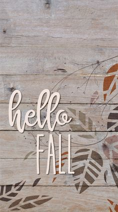 Hello Fall Wallpaper for iPhone