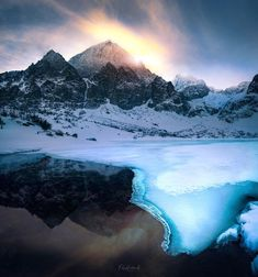 High Tatras (Zelené pleso = Green tarn), Slovakia, winter High Tatras, Slovenia, Landscape Photos, Hungary, Winter Wonderland, Austria, Mount Everest, Mountains, Amazing