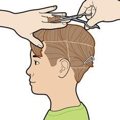 How to Cut Your Kid's Hair: Cut the Top: Short Hair (via Parents.com)
