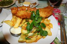 Fish 'n' chips as it should be! in Shells Cafe in Strandhill Co Sligo Ireland