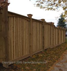 wood privacy fence styles | Board and Batten Privacy Fence Design