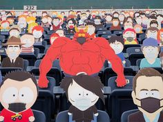 1,800 South Park Cut-Outs Spread Across Five Sections at Broncos Game During the COVID-19 Pandemic Denver Broncos Game, Go Broncos, Eric Cartman, Trey Parker Matt Stone, South Park Funny, Nfl, Morning Edition, South Park Characters, University Of Colorado