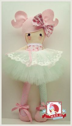 "19"" Deluxe Doll. Wearing removable Deluxe tutu and shoes.Suitable from birth Hand wash only A Mrs.H original design"