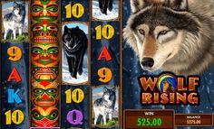 """Doğal yaşam temalı oyunu oynayın! Wolf Rising, IGT firmasından gelen 5 çarklı ve 100 ödeme çizgili slot oyunudur. Mor bir totem resmi, Wild sembolü olarak kullanılmış. Scatter sembolü ise, """"Bonus"""" yazısı ile gösterilmiş. Wolf Rising video slot oyunu bedava oynamanız mümkün!"""